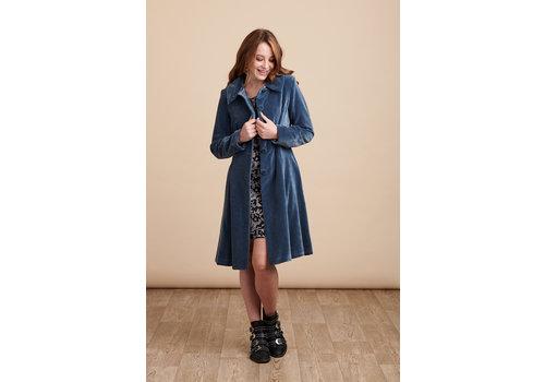 JABA Jaba Velvet Coat in Stone Grey