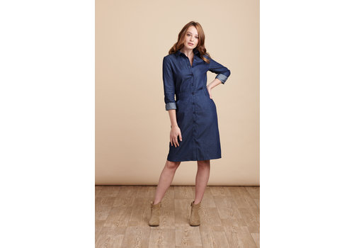 JABA Jaba Erica Dress in Dark Chambray Denim