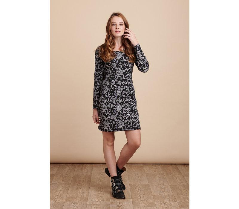 Jaba Nadine Dress in Wild Black