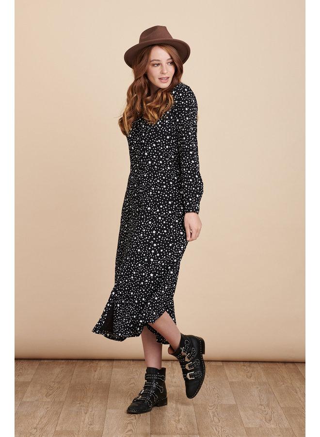 Jaba Margot Dress in Black Stars
