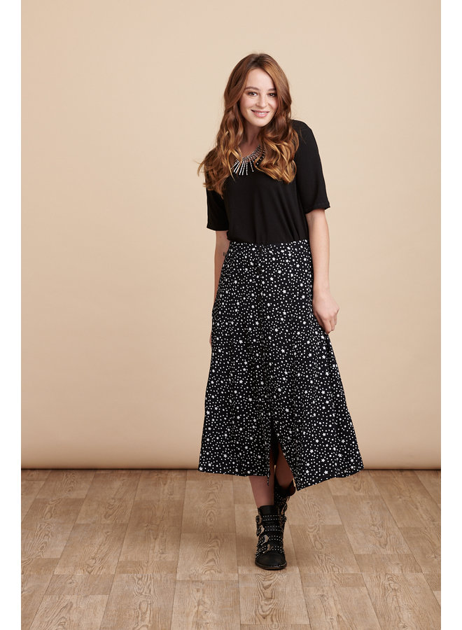 Jaba Sienna Skirt - Black Stars