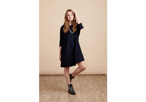 JABA Jaba Etta Velvet Tunic in Midnight Blue