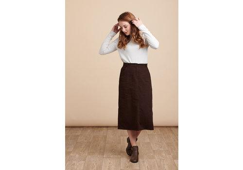 JABA Jaba Rachel Cord Skirt in Chocolate