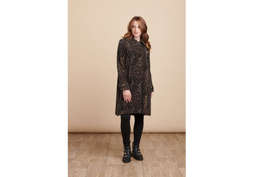JABA Jaba Velvet Swing Coat in Leopard