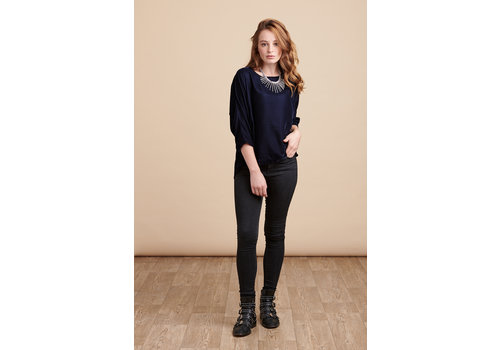 JABA Jaba Edie Velvet Top in Midnight Blue