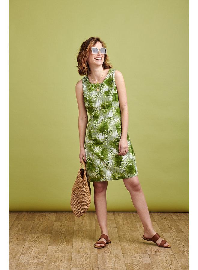 Nicole Dress in Palm Print