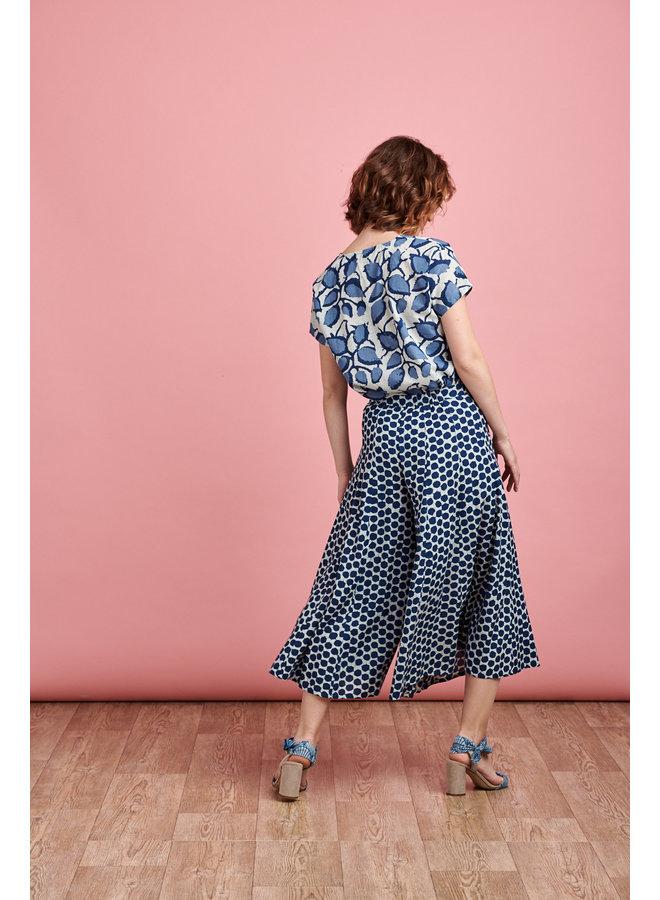 Iva Culottes in Blue Spot