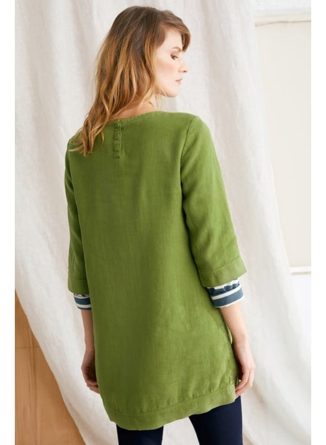Oceanfront Tunic in Dill