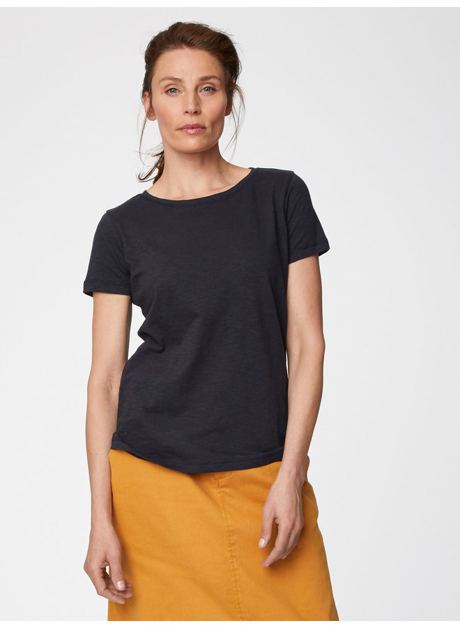 Thought Fairtrade Organic Cotton Tee in Navy