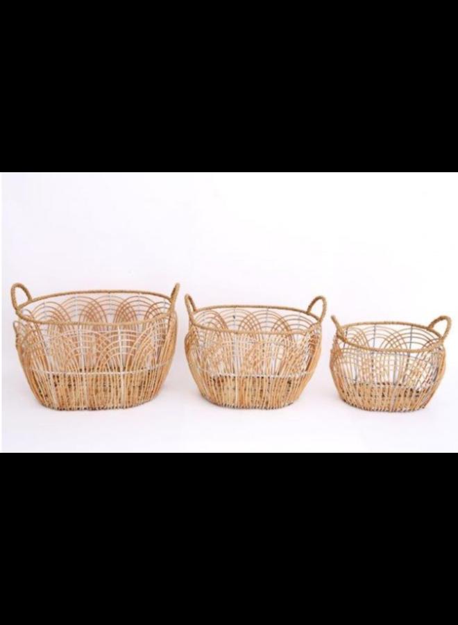 Medium Oval Willow Basket