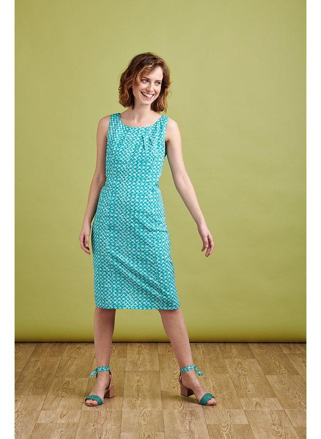 Emily Dress in Turquoise
