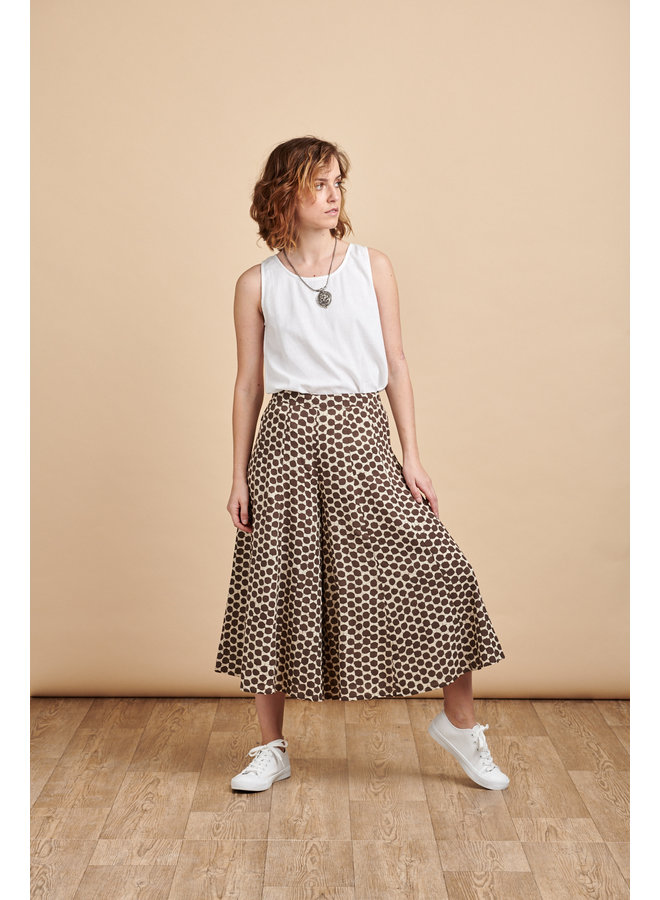 Iva Culottes in Coffee Spots