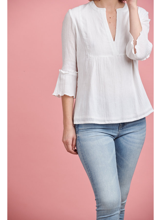 Alba Cotton Top in White