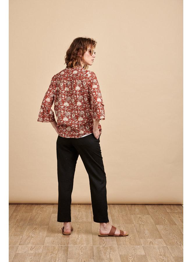 Alba Cotton Top in Rust