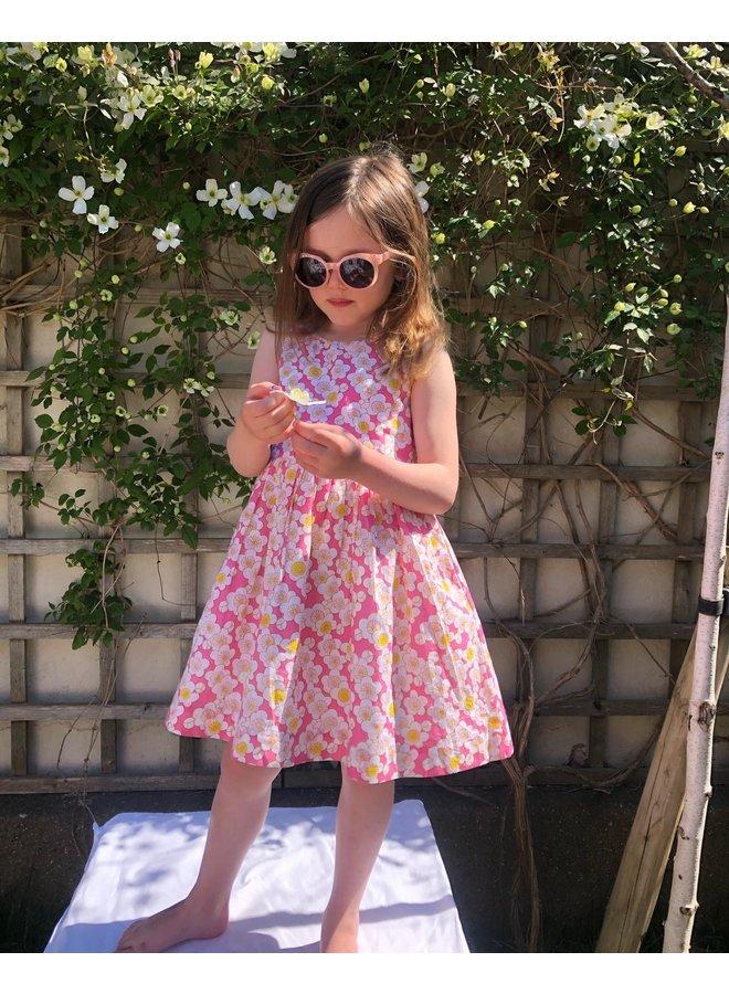 Lauren Dress in Pink Flowers