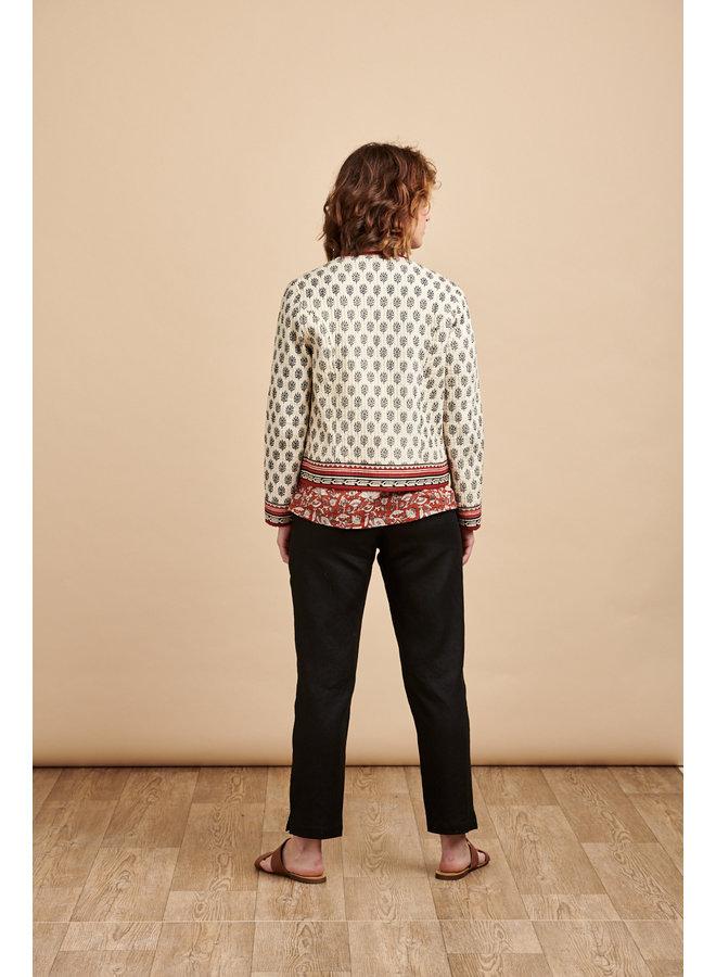 Reversible Jacket in Cream/Rust