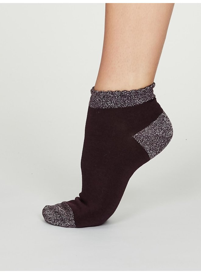 Glister Bamboo Glitter Ankle Socks