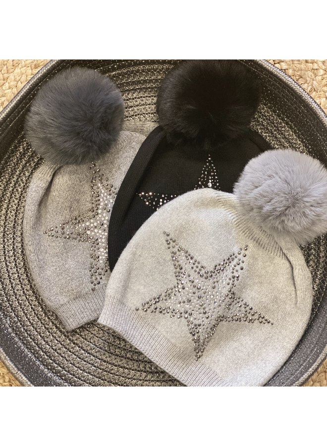Cashmere Bobble Star Hats