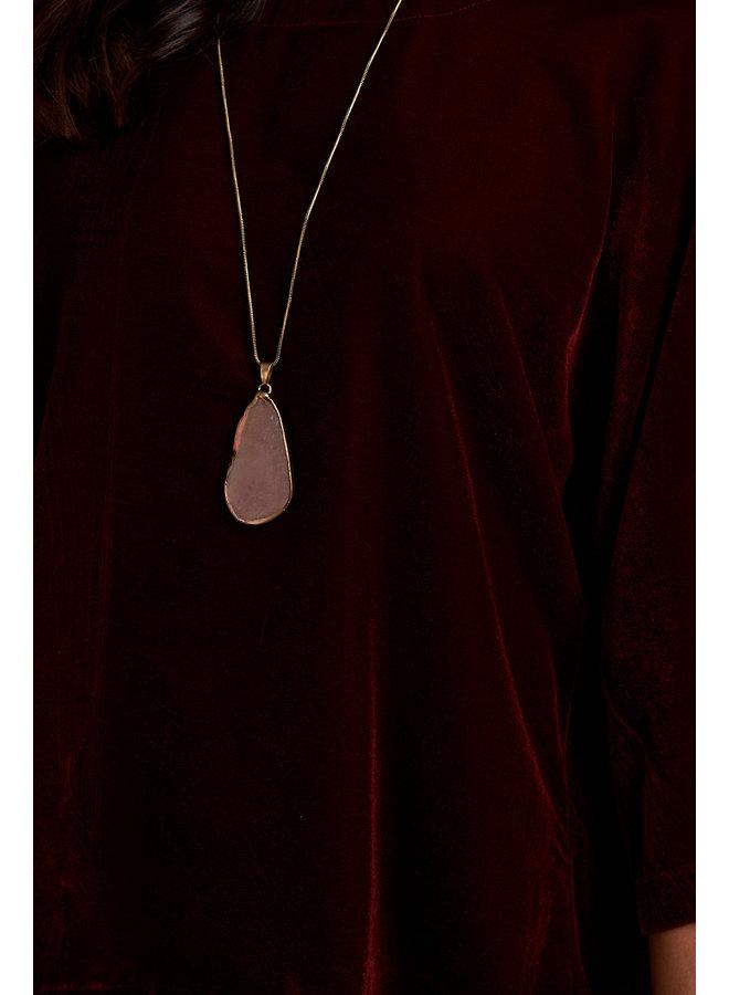 Jaba Edie Velvet Top in  Ruby Red
