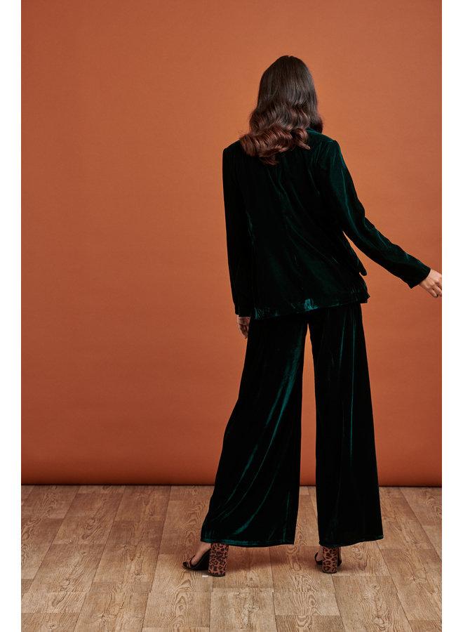 Jaba Velvet Jacket in Emerald Green