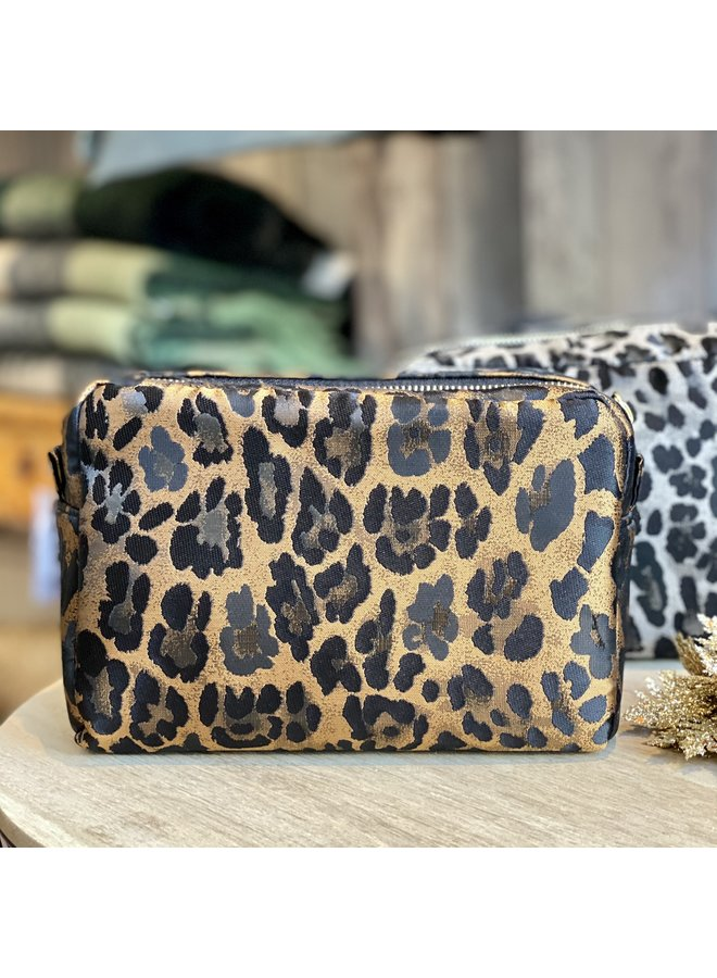 Copper Leopard Cosmetic Pouch