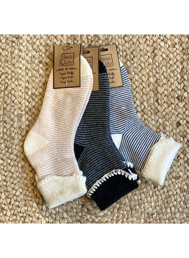 Stripe Cosy Socks