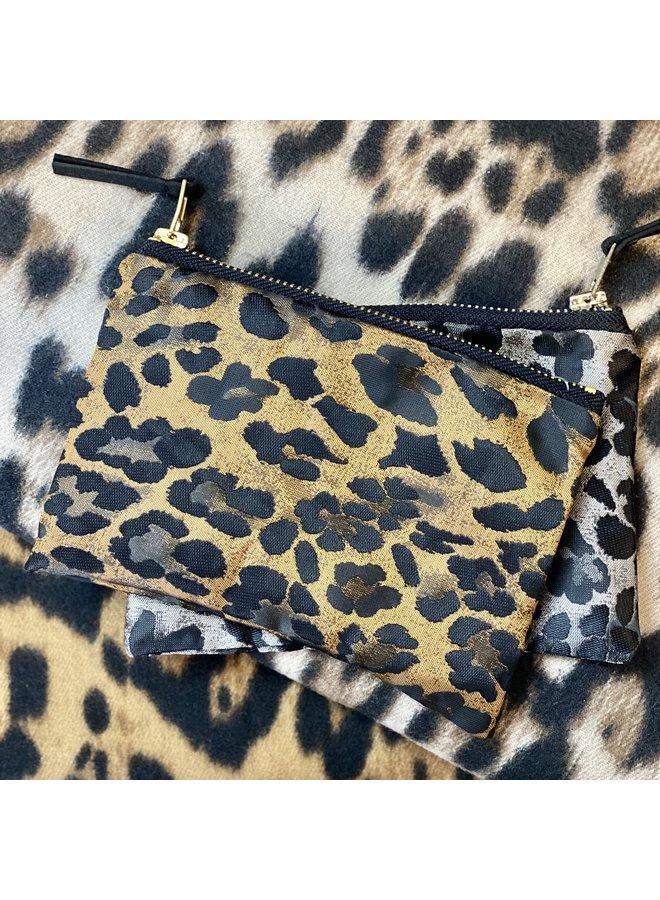 Copper Leopard Purse