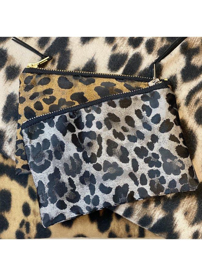 Silver Leopard Purse