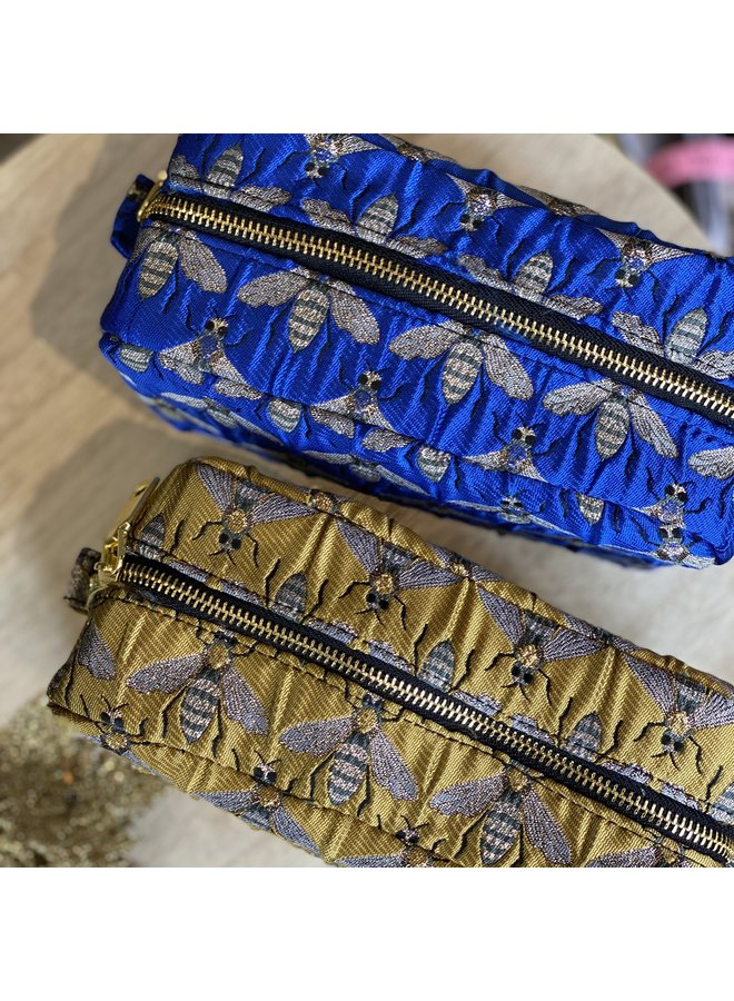 Bee Jacquard Cosmetic Pouch