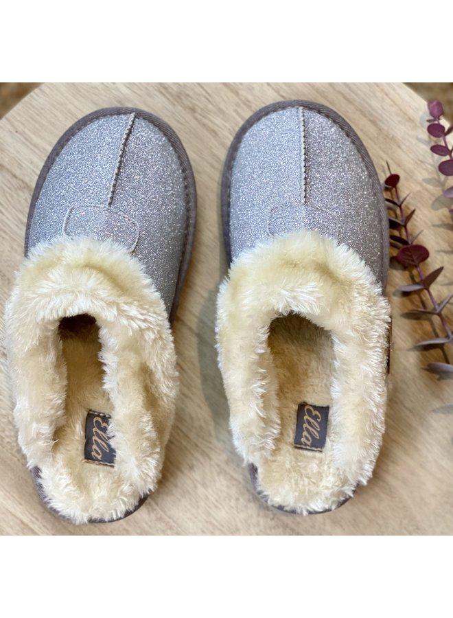 Luxury Spakle Slippers in Silver