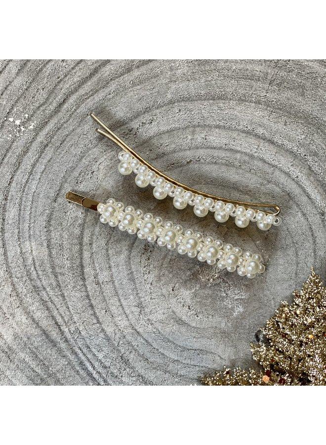 Pearl Hair Slides - Set of 2