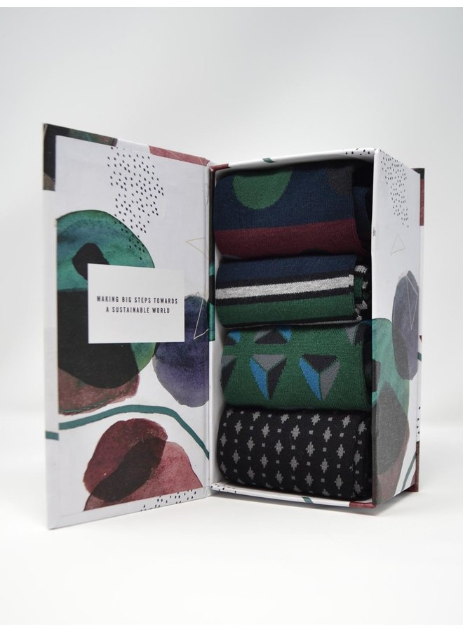 Thought Henry Bamboo Patterned Socks Box