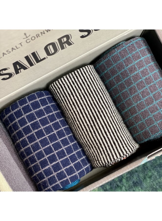 Seasalt Men's Stormy Seas Box of 4 - Mount Harbour Mix