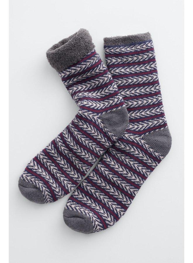 Seasalt Men's Cabin Socks - Marchen Midnight Aran