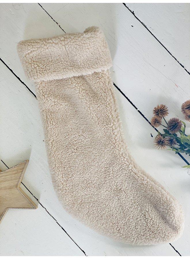 Off White Christmas Stocking