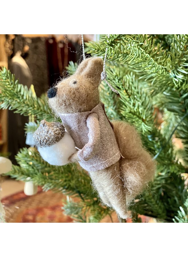 Woollen Squirrel Decoration