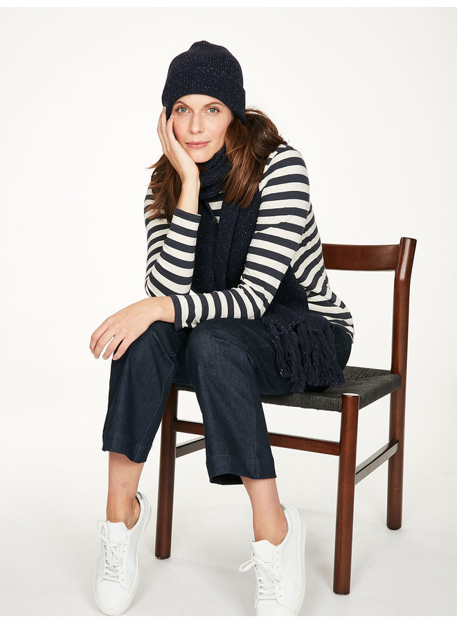 Thought Rainer Top in Midnight Navy