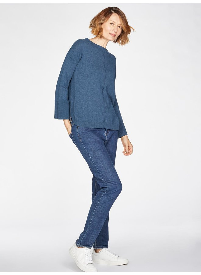 Thought Perils Jumper in Majolica Blue