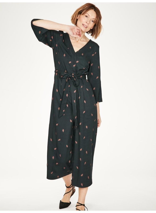 Thought Rosamund Bamboo Printed Wrap Jumpsuit