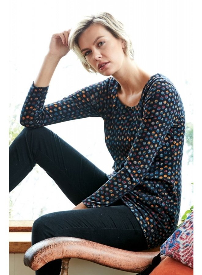 Nomads Cotton Spot Top in Graphite