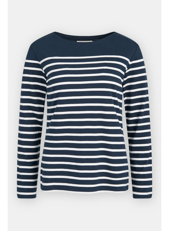 Seasalt Sailor Shirt in Falmouth Midnight Chalk