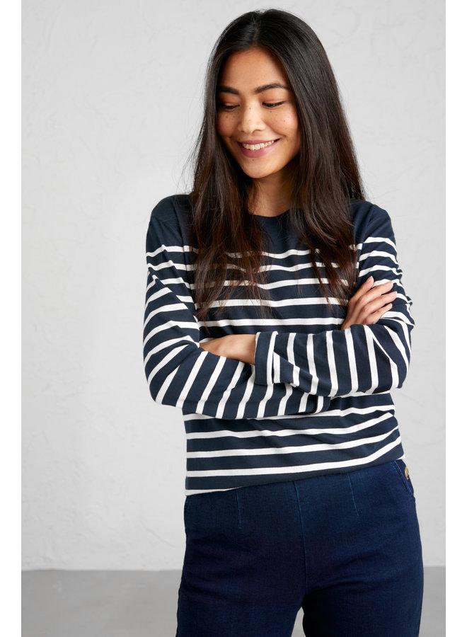 Seaslt Sailor Shirt in Falmouth Midnight Chalk