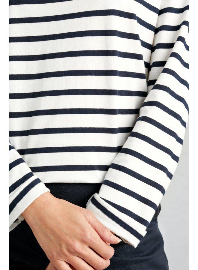 Seasalt Sailor Shirt in Falmouth Breton Chalk Midnight