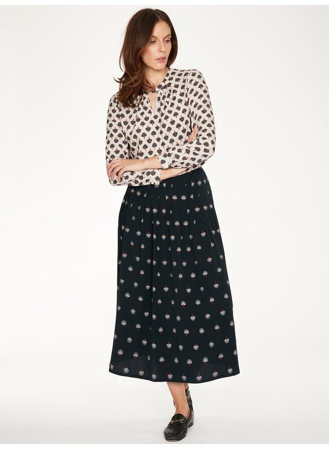 Thought Salvo Tencel Printed Pleat Midi Skirt