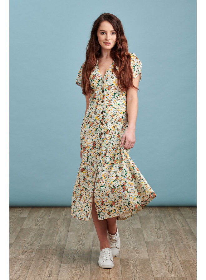 Willow Midi Dress in Vintage Flower