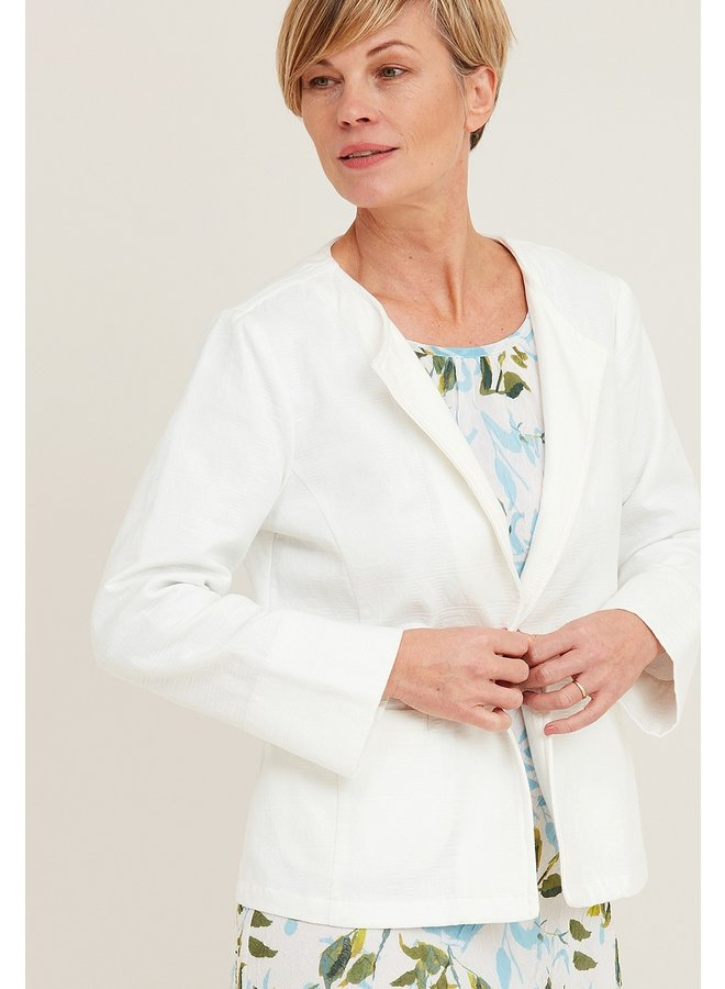 Adini Alicia Jaquard Jacket in Off White
