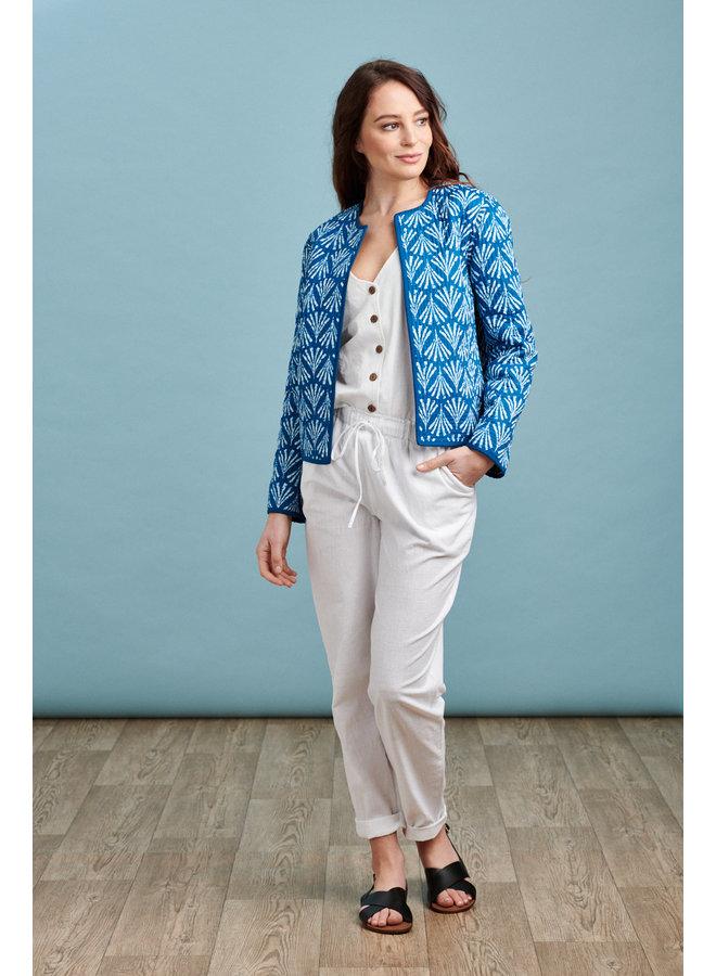 JABA Reversible Jacket in Buti Blue