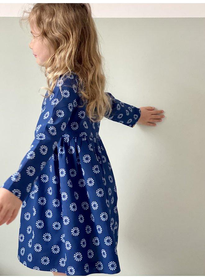 Jaba Kids Tabitha Dress in Blue Spots