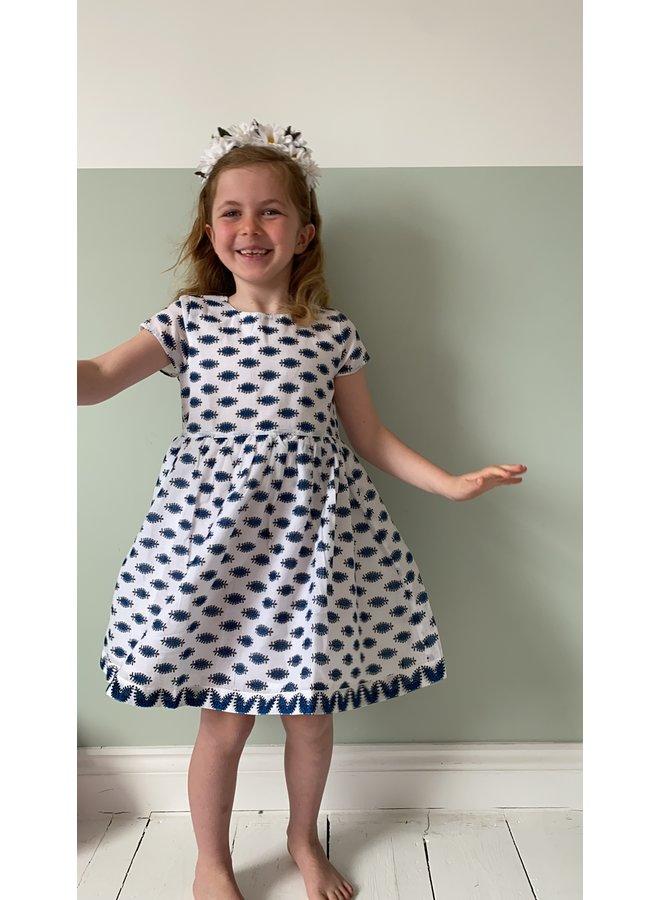 Jaba Kids Thea Dress in Buti Blue