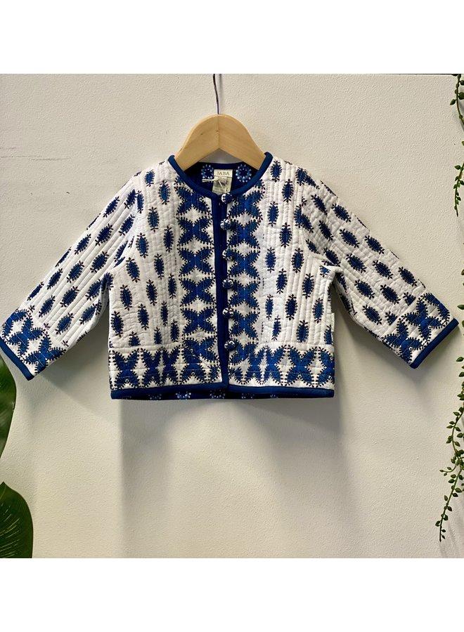 Jaba Kids Reversible Jacket in Buti Blue